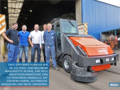 Stangl Industrie-Kehrmaschine – Powerboss Armadillo 9XR